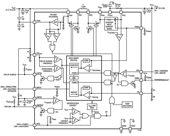 LTC3110, Схема зарядного